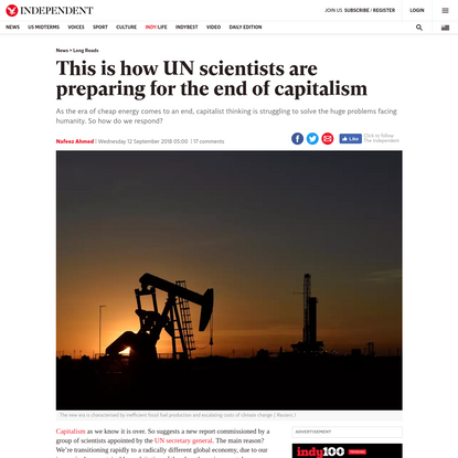 This is how UN scientists are preparing for the end of capitalism