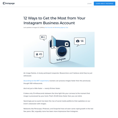 12 Ways to Get the Most from Your Instagram Business Account