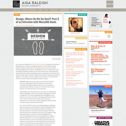 AIGA Raleigh   Design, Where Do We Go Next? Part 2 of an Interview with Meredith Davis