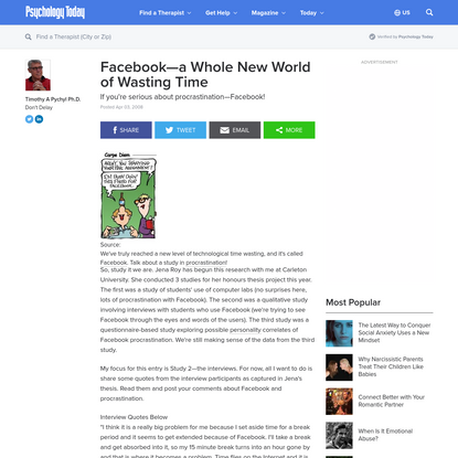 Facebook-a Whole New World of Wasting Time