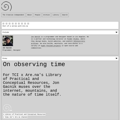 On observing time /╲/╲/╲