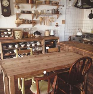 Wood-forward kitchen