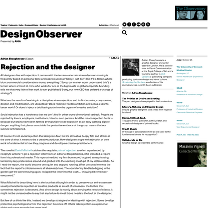 Rejection and the designer