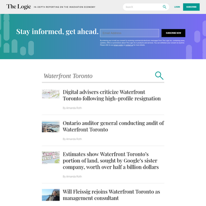 You searched for Waterfront Toronto - The Logic