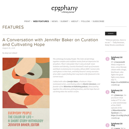 A Conversation with Jennifer Baker on Curation and Cultivating Hope