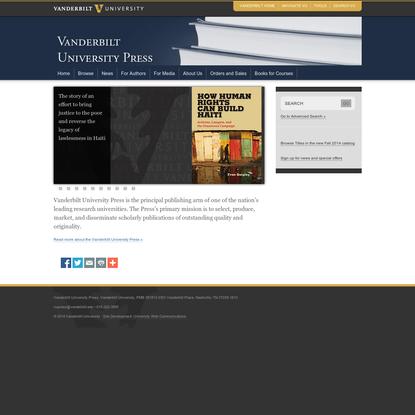 University Press   Vanderbilt University