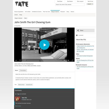 John Smith The Girl Chewing Gum | Tate