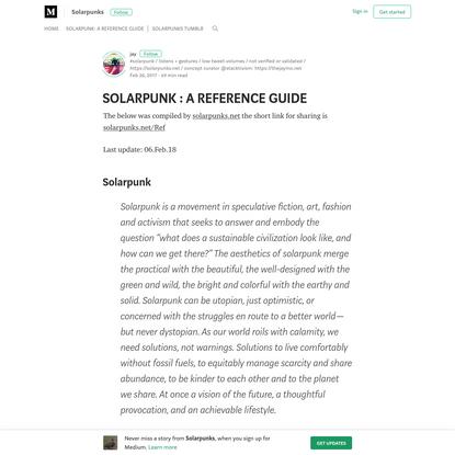 Solarpunk: medium