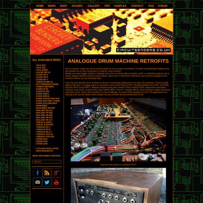 Circuitbenders - Analogue Drum Machine Retrofits