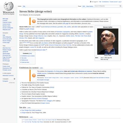 Steven Heller (design writer) - Wikipedia