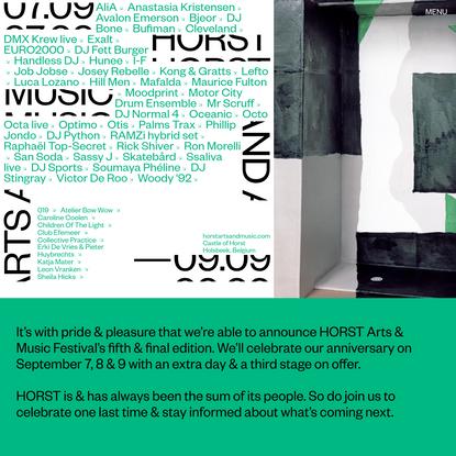 HORST | HORST Arts & Music festival 2018