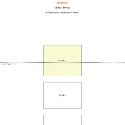 TECH-Scrollama Demo: Basic