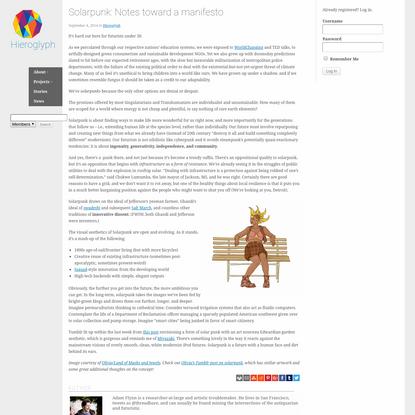 Solarpunk: Notes toward a manifesto   Project Hieroglyph
