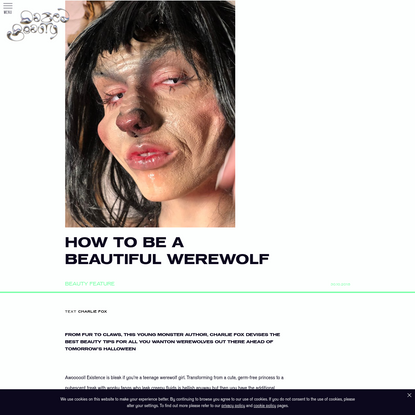 How to be a beautiful werewolf
