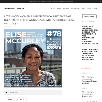 #078 - How Women & Minorities Can Receive Fair Treatment in The Workplace with Architect Elise McCurley