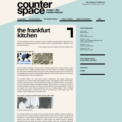 MoMA | Counter Space: the frankfurt kitchen