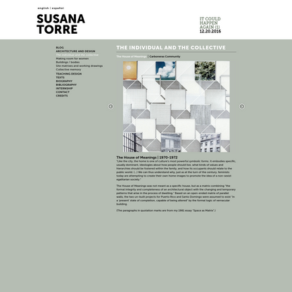 The House of Meanings | Susana Torre