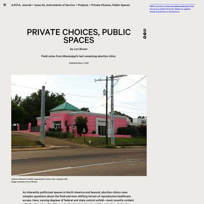 Private Choices, Public Spaces | Lori Brown