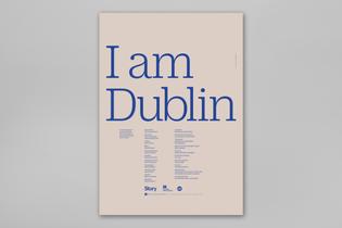 I Am Dublin film poster (designed by  Stefania Malmsten and Malmsten Hellberg)