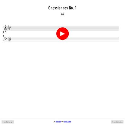 Gnossiennes No. 1 Forever