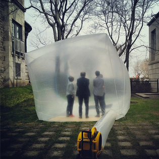 Jesse Seegers inflatable at Canadian Centre for Architecture, Montreal, 2014