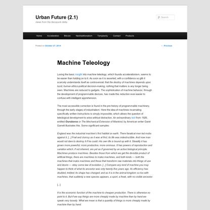 Machine Teleology