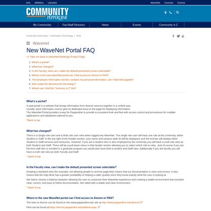 New WaveNet Portal FAQ   Pepperdine University   Pepperdine Community