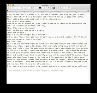 """Kurt Vonnegut, """"Tech and me"""""""