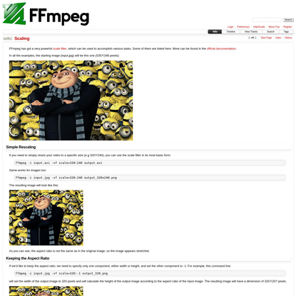 Scaling - FFmpeg