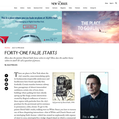 Forty-one False Starts   The New Yorker