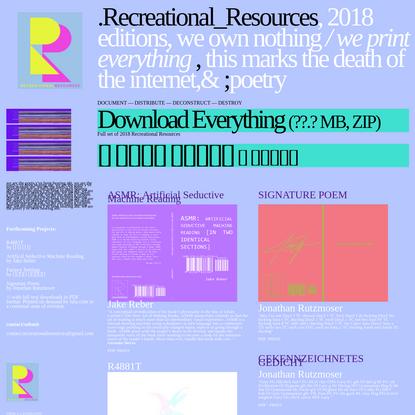 recreationalresources.net
