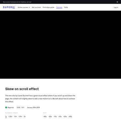 Skew on scroll effect