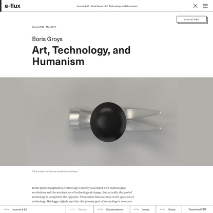 Art, Technology, and Humanism