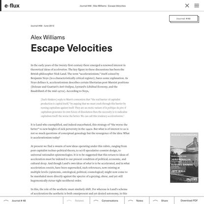 Escape Velocities - Journal #46 June 2013 - e-flux