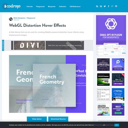 WebGL Distortion Hover Effects | Codrops