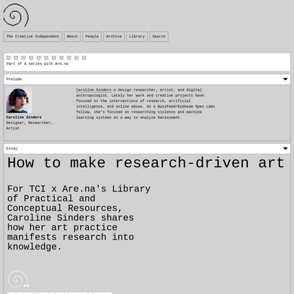 How to make research-driven art