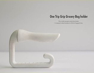 One Trip Grip Grocery Bag Holder