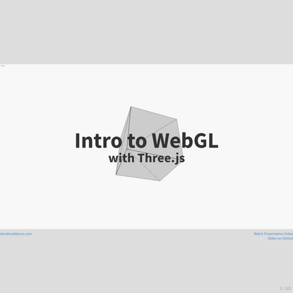 Intro to WebGL with Three.js