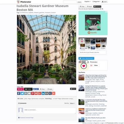 Isabella Stewart Gardner Museum Boston MA
