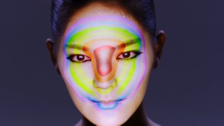 connected colors / real-time face tracking and 3d projection mapping