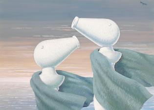 René Magritte, Le colloque sentimental, 1946