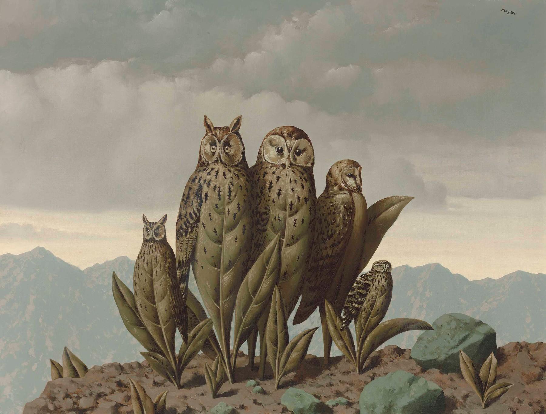 René Magritte, Les compagnons de la peur, 1942