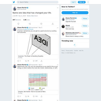 Shane Parrish on Twitter