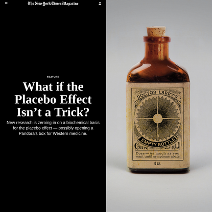 What if the Placebo Effect Isn't a Trick?