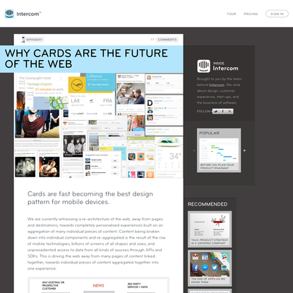 Why Cards are the Future of the Web - Inside Intercom