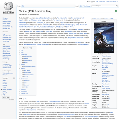 Contact (1997 American film) - Wikipedia