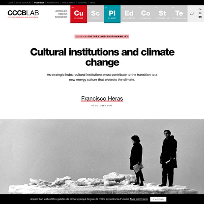Cultural institutions and climate change | CCCB LAB