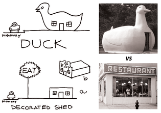Ducks and Decorated Sheds