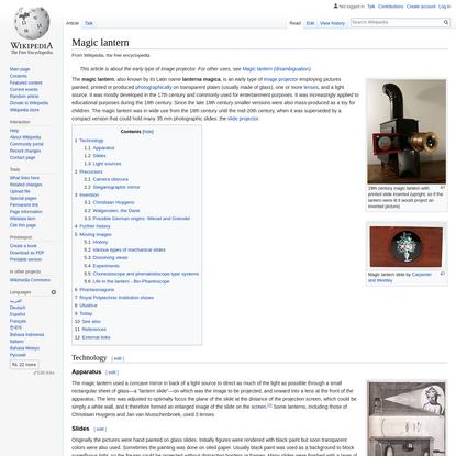 Magic lantern - Wikipedia
