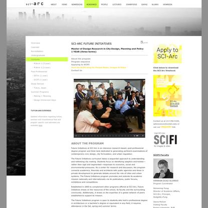 SCI-Arc: Academic Programs - Future Initiatives